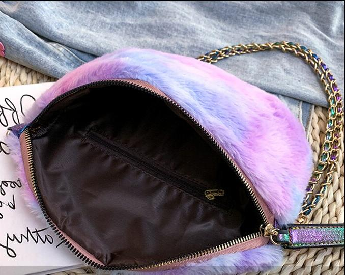 Women <font><b>Faux</b></font> <font><b>Fur</b></font> Shoulder Bags Cute Chain <font><b>Body</b></font> bag Ladies Bags Dual Use Handbag