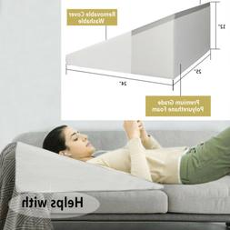 Large Bed Wedge Pillow Foam Body Positioner Elevate support