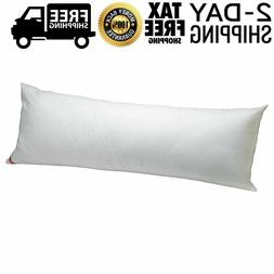 Large Long Body Pillow Ultra Soft Comfort Sleeping, White, 2