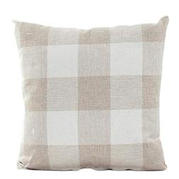 Sunhusing Lattice Sofa Bed Cushion Cover Plaid Pillow Case H