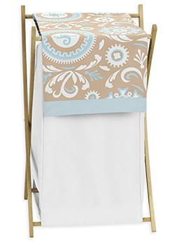 Sweet Jojo Designs Baby/Kids Clothes Laundry Hamper for Blue