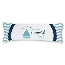 AILOVYO Let Your Dreams Set Sail Quotes Nautical Mint Chevro