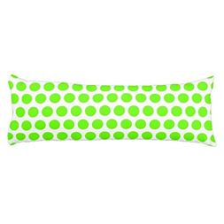 Yohoba Lime Green Polka Dots Body Pillow Covers Cases With D