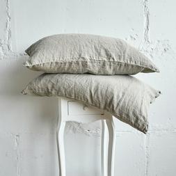 Linen PILLOW COVER Case SLIP Queen King Standard Pillowslip