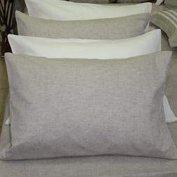 Linen Pilowcase/Envelope Closure/King Body Pillow/ Flax PILL