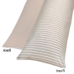 Sweet Jojo Designs Little Lamb Stripe/Taupe Full Length Doub