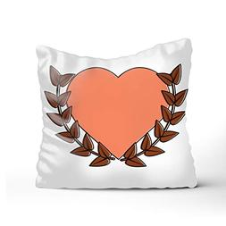 New Living SeriesHeart of A Laurel Crown Decorative Throw Pi