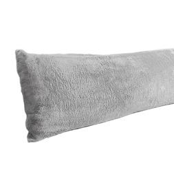 Long Body Pillow Cover Case Large Bed Soft Sherpa Allergy Pr