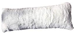 Luxurious Faux Fur Body Pillow Cover with Long Hair, Removab
