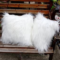 Aytai 2pcs Luxury Faux Fur Pillow Covers Soft Plush Throw Pi