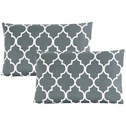 Mellanni Luxury Pillowcase Set Brushed Microfiber Printed Be