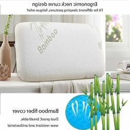 MADE IN USA BAMBOO MEMORY FOAM BED PILLOW HELPS BREATHING AN