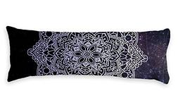 AILOVYO Mandala Pattern Body Pillow Case Starry Sky Silky Sh