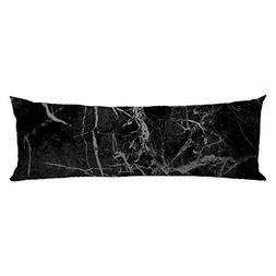 GUGLILI Marble Texture Geometric Body Pillow Case Cover for