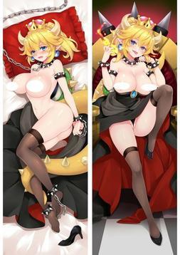 Mario Nude Bowsette Dakimakura Anime Body Hugging Pillow Cov