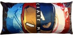 Marvel Avengers Body Pillow Civil War for Kids Bedroom Size