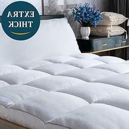 Mattress Topper King Size Cooling Plush Pillow Top Mattress