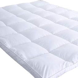 Naluka Mattress Topper Queen Size, Down Alternative Overfill