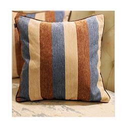 dream_home Mediterranean Style Stripe Chenille Pillowcase -