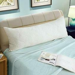 Memory Fiber Full Body Pillows for Adults -Removable Zippere