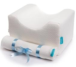 ComforTime Memory Foam Knee Pillow + 2 Cotton Covers. Side S