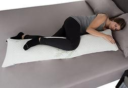 Memory Foam Body Pillow with Bamboo Fiber Cover- Antibacteri