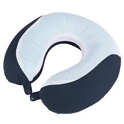 Memory Foam Travel Pillow- With Gel That Cools for Head/Neck