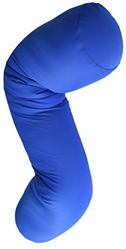 Squishy Deluxe Microbead Body Pillow with Silky Smooth Remov