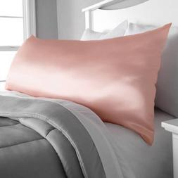 Microfiber Body Pillow Cover - Shiny Blush