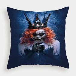 iPrint Microfiber Throw Pillow Cushion Cover,Queen,Queen of