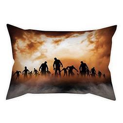 iPrint Cotton Linen Throw Pillow Cushion Cover,Halloween Dec