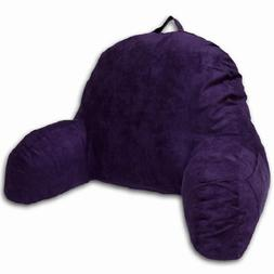 Purple Microsuede Bed Rest Reading Pillow & Support Bed Back