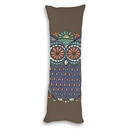 Yilooom Midnight Owl Mandalas Art Print Body Pillow Covers C