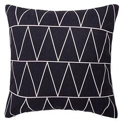 SODIAL Modern Simple Geometric Pattern & Linen Throw Pillow
