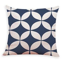 HTHJSCO Modern Simple Geometric Style Soft Linen Burlap Squa