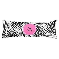 Monogram Black and White Zebra Print with Hot Pink Body Pill