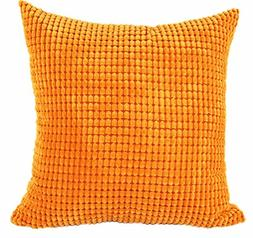 LivebyCare Multi-Size Candy Color Corduroy Throw Pillow Cove