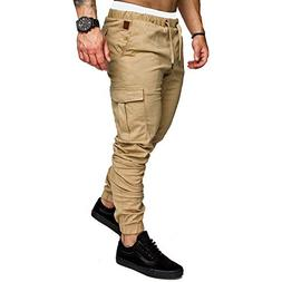 Multi Pocket Hip Hop Harem Trousers Mens Joggers Pants Sweat