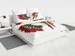 Native American Grey Bedding Set Original Ethnic Symbolic My
