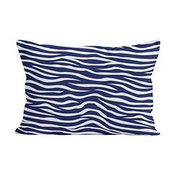 Sokiiy Navy Blue and White Animal Print Zebra Stripes Beauty