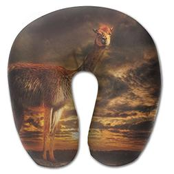 Laurel Neck Pillow Alpaca Sunset Travel U-Shaped Pillow Soft
