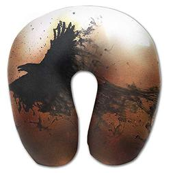 Laurel Neck Pillow Black Crow Abstract Design Travel U-Shape