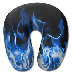 Laurel Neck Pillow Blue Fire Travel U-Shaped Pillow Soft Mem