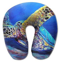 Laurel Neck Pillow Blue Sea Turtle Travel U-Shaped Pillow So