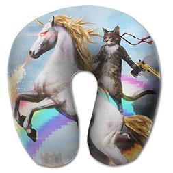 Laurel Neck Pillow Cat Stands On Unicorn Travel U-Shaped Pil