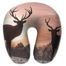 Laurel Neck Pillow Deer in Sunset Travel U-Shaped Pillow Sof