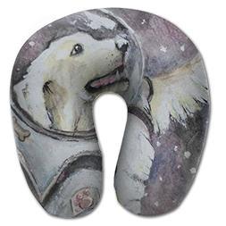 Laurel Neck Pillow Dog Astronaut Drawing Travel U-Shaped Pil