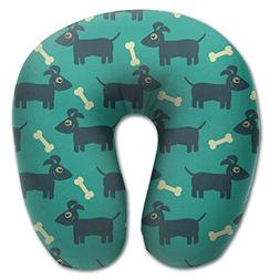 Laurel Neck Pillow Dog Bone Design Travel U-Shaped Pillow So