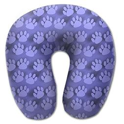 Laurel Neck Pillow Dog Footprints Texture Travel U-Shaped Pi