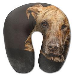 Laurel Neck Pillow Dog Muzzle Paws Travel U-Shaped Pillow So